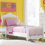 Hillsdale Furniture 1528BTWR Lauren Post Bed Set with Rails, Twin, White