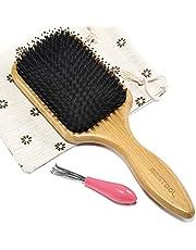 BESTOOL Hair Brush, Boar Bristle Paddle Hair Brush With Nylon Pins, Detangle, Massage, Add Shine for Women Men All Wet & Dry Hair