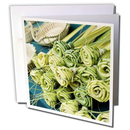 3dRose Danita Delimont - Charleston - Grass woven roses for sale at market, Charleston, South Carolina. USA - 6 Greeting Cards with envelopes (gc_251384_1)