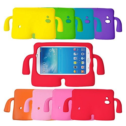 MAPLE CASES, Tab 3 Case, Playful Kids Shock Proof Foam Case Cover Stand for Samsung Galaxy Tab 3 (7.0) P3200 (GREEN)