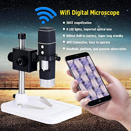 New-Sky-View Portable WiFi Digital Microscope Wireless 500X Camera 2MP Digital Microscope Magnifier with Base Stand Holder for IOS Android