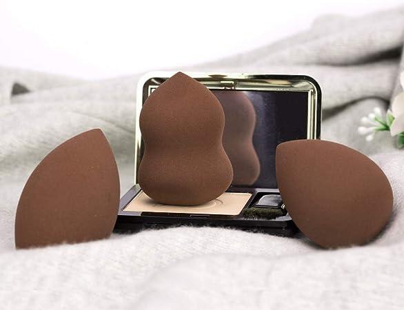 Esponjas de maquillaje Set de 3, Microfiber Sponge,de Ruesious sin látex, Makeup Esponjas para corrector, Crema, Colorete, Liquid Base De Maquillaje. (Color café): Amazon.es: Belleza