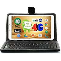 Ikall N4 Tablet with Keyboard (7 inch, 16GB, 4G + LTE + Voice Calling), White
