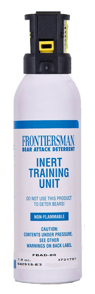 Frontiersman Practice Bear Spray – Water-based Training Canister – 30' Range (7.9 oz) –INERT - NO ACTIVE INGREDIENTS by FRONTIERSMAN