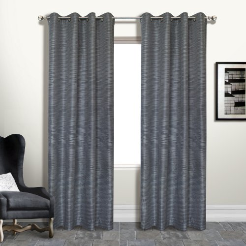 United Curtain Brighton Window Curtain Panel, 54 by 84-Inch, - Curtain Panel Platinum
