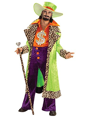 Forum Novelties Men's Plus-Size Biggest Daddy Pimp Costume, Multi, X-Large