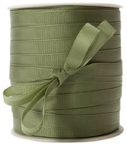 May Arts 3/8-Inch Wide Ribbon, Olive Grosgrain by May Arts
