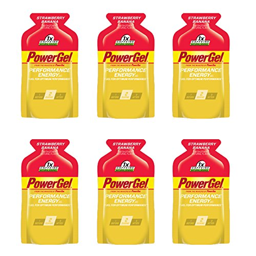 PowerBar PowerGel - Strawberry Banana (6 x 1.44oz Packs) Gel Strawberry Banana