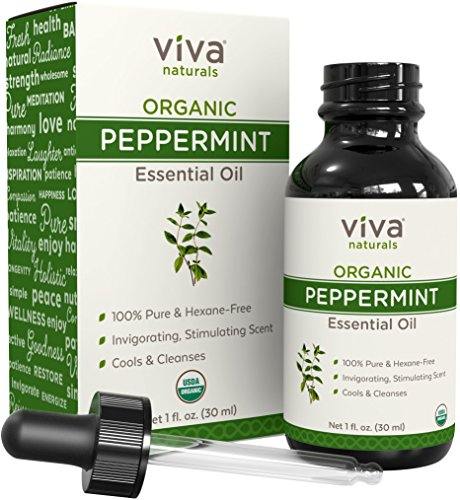 Organic Peppermint Essential Oil - Natural Aromatherapy Oil for Diffuser, Home & DIY Blends, Certified Organic & Non GMO, 1 oz