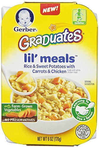 Comidas Lil, arroz, batata, zanahoria y pollo, 6 oz, 6 Count