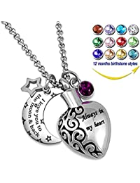 Urn Necklaces for Ashes Always in My Heart Love You to...