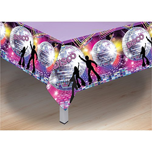 Forum Novelties X77977 Disco Party Table Cover, Multi-Colour, One Size]()