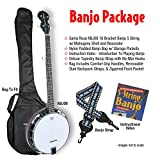 "Santa Rosa KBJ09-K ""Showboat\"" Deluxe 5 String Banjo Package - Includes Banjo, Banjo Bag, Banjo Strap and Banjo Instructional Video"
