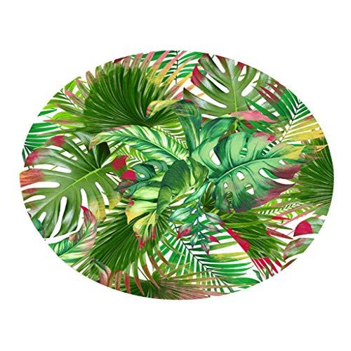 LUXISDE Botany Elements Blanket Round Bathroom Carpet 60cm