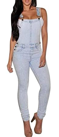 Amazoncom Vogue Pencil Pants Denim Overalls Jeans Jumpsuit Rompers