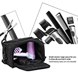 SMITH CHU Professional Barber Hairdressing Scissors Tool Bag Carry Oraganizer Holder/Hairstyling Case Luggage with shoulder Strap,Grooming Toiletry Travel Bag for Men Women