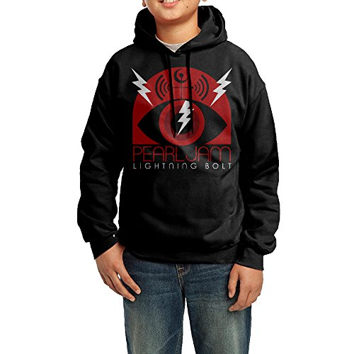 [QSDFE Youth Unisex Hooded Sweatshirt Pearl Jam Lightning Bolt Black Size M] (Lightning Bolt Costumes)