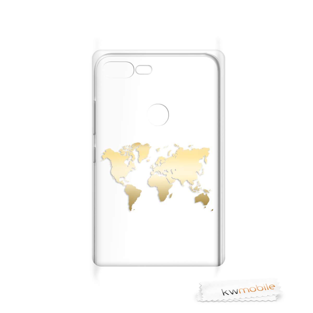 Housse de t/él/éphone en Silicone Or Rose-Transparent kwmobile Coque Huawei Honor 9 Lite Coque pour Huawei Honor 9 Lite