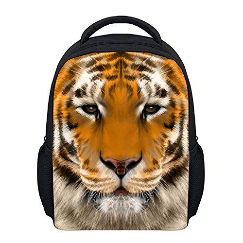 (Beauty Collector Wild Tiger Print Mini Kids Backpack Durable Animal Toddler Preschool Daypack)