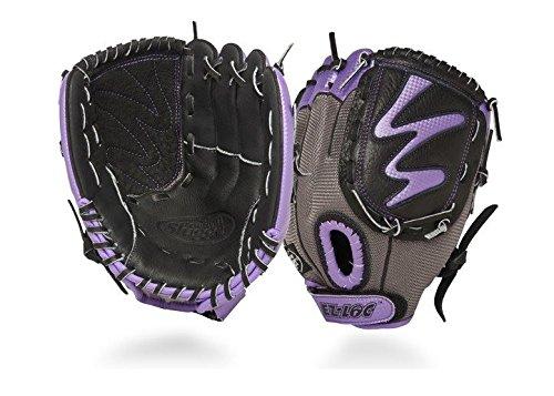 Louisville Slugger 10.5-Inch FG Diva Softball Infielders Gloves, Purple, Right Hand Throw