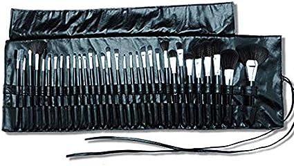 Neceser enrollable para brochas de maquillaje, de piel sintética, portátil, de viaje, con 32 bolsillos, con ruedas, HZC223: Amazon.es: Belleza
