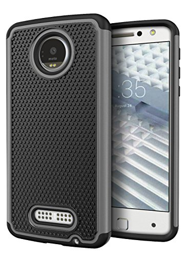Moto Z Force Droid Case, Cimo [Shockproof] Heavy Duty Shock Absorbing Protection Cover for Motorola Moto Z Force Droid (2016) - Gray