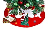Santa and Frosty Friends Christmas Tree Skirt 36""