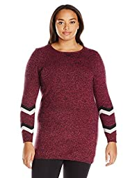 Hottotties Women\'s Plus Size Sweater Tunic, Mix Berry, 2X