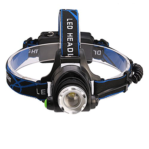 Ultra Bright LED Headlamp 1000 Lumens Zoomable CREE Flashlight Rechargeable Battery 18650 Waterproof Camping Light