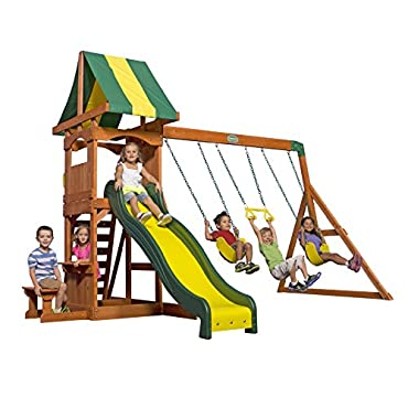 Backyard Discovery Weston All Cedar Wood Playset Swing Set