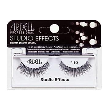 fb04343532b Amazon.com : (6 Pack) ARDELL Studio Effects Custom Layered Lashes 110 Black  : Beauty