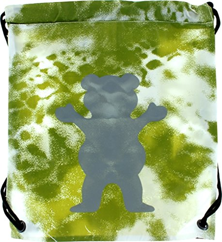 (Grizzly Grip Tape Bear Logo Olive Tie Dye Cinch Sack)