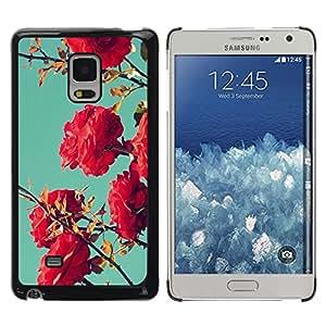 TopCaseStore / la caja del caucho duro de la cubierta de protección de la piel - Bush Pink Red Teal Sky Nature Blue - Samsung Galaxy Mega 5.8 9150 9152