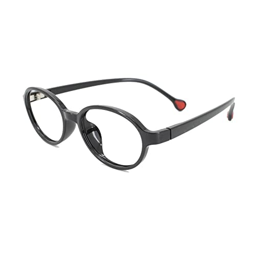 ae32807847 Amazon.com  EyeBuyExpress Prescription Boys Girls Black Oval Reading  Glasses Anti Glare Quality +2.25  Health   Personal Care