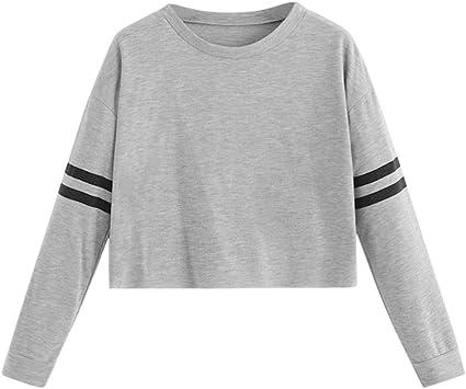 Luckycat Separación Mujer Camiseta Manga Larga Empalme Blusa Tops otoño Invierno Ropa Regalo: Amazon.es: Ropa y accesorios