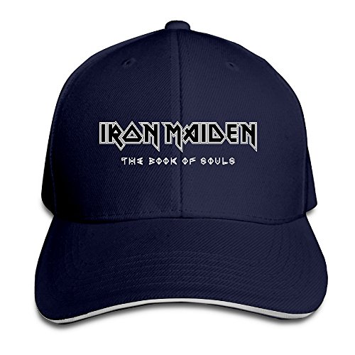 Logo Sandwich - Iron Maiden Heavy Metal Band Logo Sandwich Cap Trucker Tats Vintage Navy