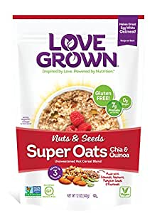 Love Grown Super Oats, Nuts and Seeds, 12 Ounce