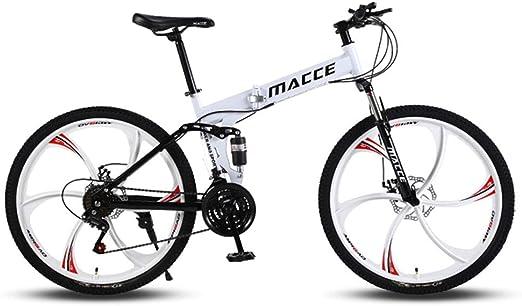 QIMENG Bicicleta Montaña Adulto Plegable Bicicleta De Montaña Bicicleta Montaña 24