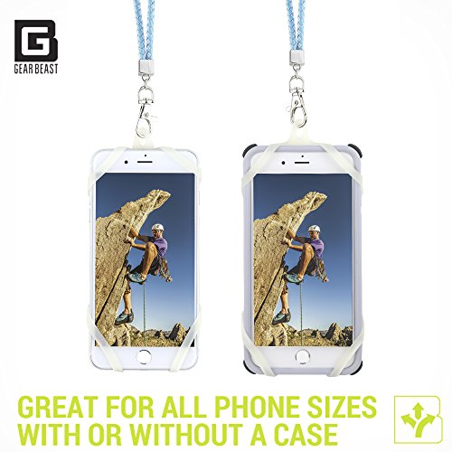 Cell Phone Lanyard Strap, Gear Beast Braid Fashion Universal Smartphone Case Cover Holder Lanyard Necklace Strap For iPhone X 8 7 6S 6 Plus Galaxy S8 Plus S7 S6 Edge Note 8 5 Jitterbug Smart and More by Gear Beast (Image #3)