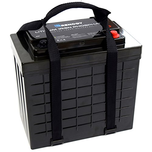 (Renogy Lithium-Iron Phosphate Battery 12 Volt 100Ah for RV, Solar, Marine, and Off-grid Applications)