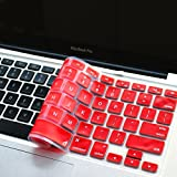 """Masino® Silicone Keyboard Cover Ultra Thin Keyboard Skin for MacBook Air 13"""" MacBook Pro with Retina Display 13""""15"""" 17"""" (Passion Red)"""