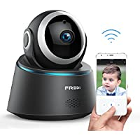 FREDI Wireless Camera Baby Monitor 1080P HD Wireless Security Camera With Two-Way Talking,Infrared Night Vision,Pan Tilt,P2P Wps Ir-Cut Nanny ip Camera Motion Detection