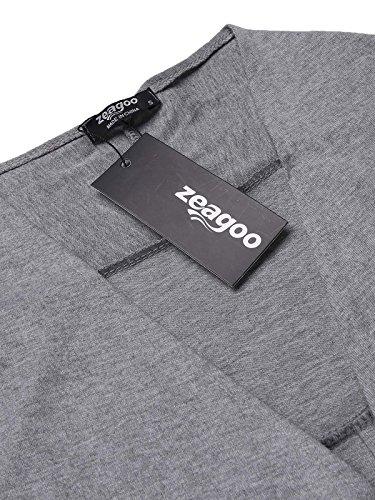 Style Zeagoo Femme Gilet Pocket Gray xwOaUwn