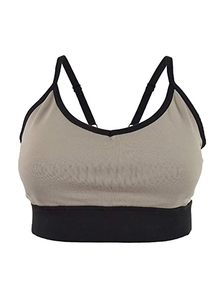 Gray DKNY Sport Womens Low-Impact Mesh-Back Sports Bra M, Coolburst