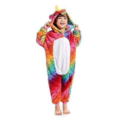 Kids Unicorn Onesie Animal Costume Halloween Cosplay Birthday Gifts: Clothing
