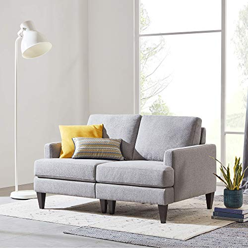 (CHITA Sofa and Loveseat, Modern Fabric Modular Couch for Living Room, Grey -【Left Seat)