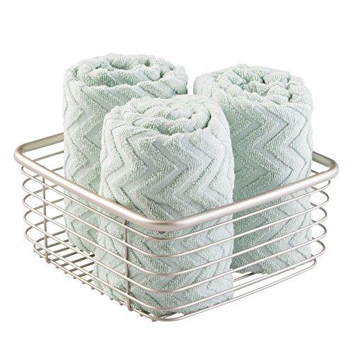 mDesign Storage Basket Bathroom Cabinet