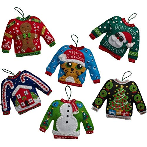 Ovedcray Costume series Felt Applique Kit - Ugly Sweater Ornaments