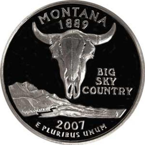 Montana State Quarter - 2007 Montana S Gem Proof State Quarter US Coin