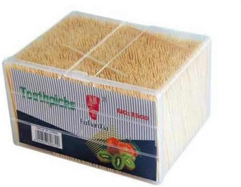 XOTF 3500 volumen en caja alta calidad disponible de doble cabezal super fina casa elegante restaurante palillo de dientes de bambú (Color : A): Amazon.es: Salud y cuidado personal